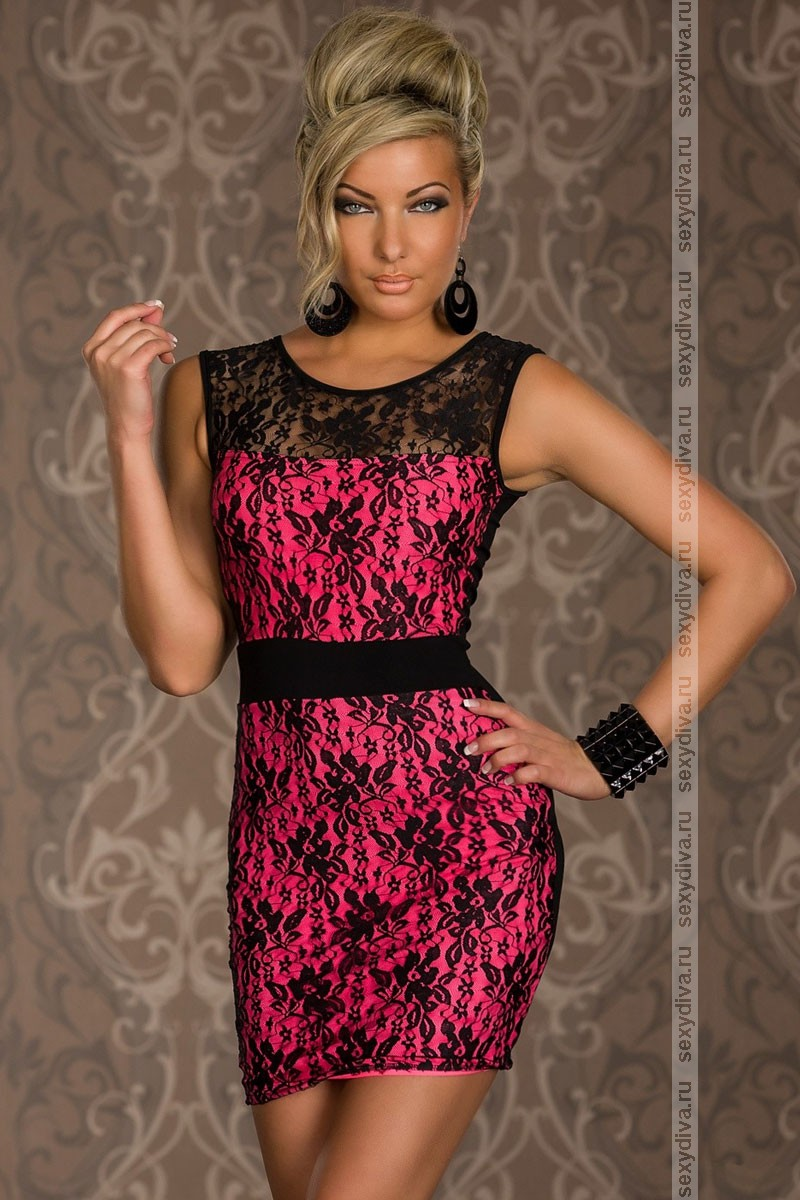 Платье с имитацией пояса